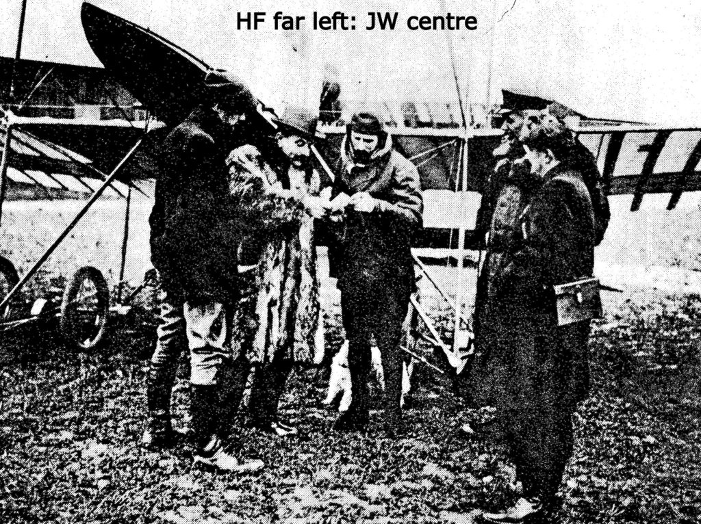 1911 John Weston with Henri Farman