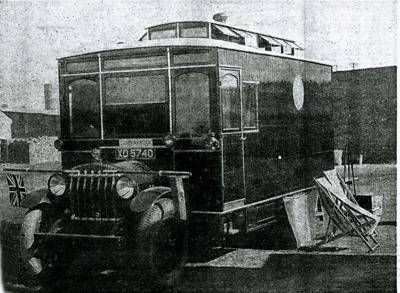 JOHN WESTON's motorcaravan. From Rosenthal, Eric. Caravans Round The Globe. The Outspan. 3 October 1930.